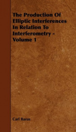 the production of elliptic interferences in relation to interferometry volume 1_cover