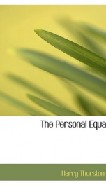 the personal equation_cover
