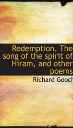 redemption the song of the spirit of hiram and other poems_cover