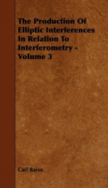 the production of elliptic interferences in relation to interferometry volume 3_cover