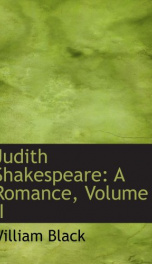 judith shakespeare a romance_cover