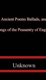 Ancient Poems, Ballads, and Songs of the Peasantry of England_cover