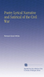 poetry lyrical narrative and satirical of the civil war_cover