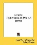 elektra tragic opera in one act_cover