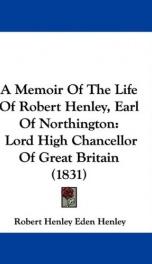 a memoir of the life of robert henley earl of northington lord high chancellor_cover