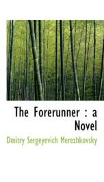 the forerunner a novel_cover