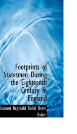 footprints of statesmen during the eighteenth century in england_cover