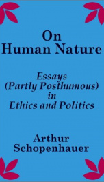on human nature essays partly posthumous in ethics and politics_cover