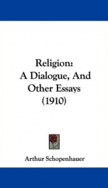 religion a dialogue and other essays_cover