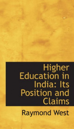 higher education in india its position and claims_cover