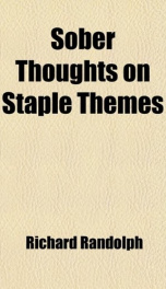 sober thoughts on staple themes_cover
