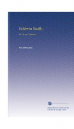 goldwin smith his life and opinions_cover