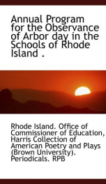 annual program for the observance of arbor day in the schools of rhode island_cover