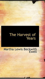 The Harvest of Years_cover