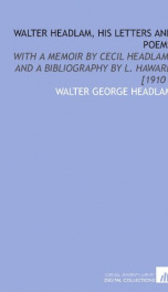 walter headlam his letters and poems_cover