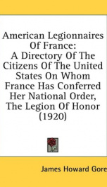 american legionnaires of france a directory of the citizens of the united state_cover