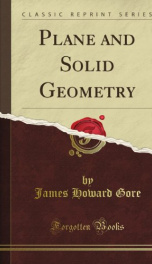 plane and solid geometry_cover