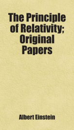 the principle of relativity original papers_cover
