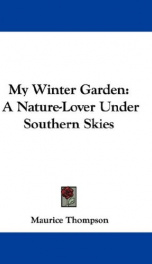 my winter garden a nature lover under southern skies_cover