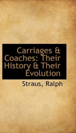 carriages coaches their history their evolution_cover