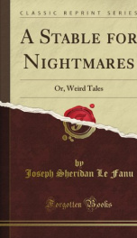 A Stable for Nightmares_cover