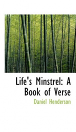 lifes minstrel a book of verse_cover