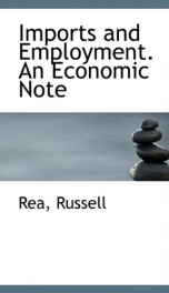 imports and employment an economic note_cover