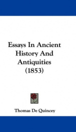 essays in ancient history and antiquities_cover