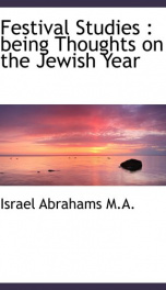 festival studies being thoughts on the jewish year_cover