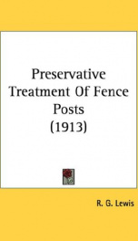 preservative treatment of fence posts_cover