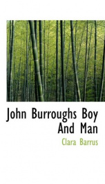 john burroughs boy and man_cover