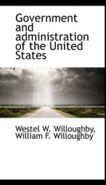 Government and Administration of the United States_cover