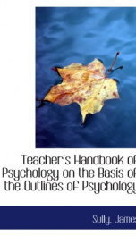 teachers handbook of psychology on the basis of the outlines of psychology_cover
