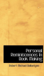 Personal Reminiscences in Book Making_cover