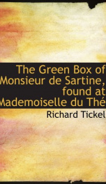 the green box of monsieur de sartine found at mademoiselle du th_cover