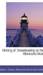 history of steamboating on the minnesota river_cover