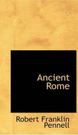 Ancient Rome : from the earliest times down to 476 A. D._cover