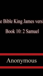 The Bible, King James version, Book 10: 2 Samuel_cover