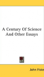 a century of science and other essays_cover