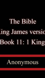 The Bible, King James version, Book 11: 1 Kings_cover