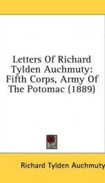 letters of richard tylden auchmuty fifth corps army of the potomac_cover