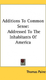 additions to common sense addressed to the inhabitants of america_cover
