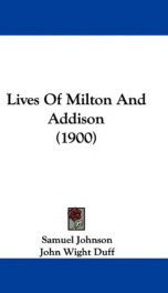 lives of milton and addison_cover