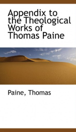 appendix to the theological works of thomas paine_cover