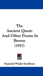 the ancient quest and other poems in brown_cover
