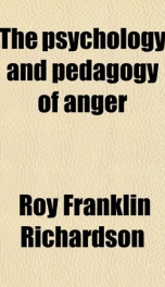the psychology and pedagogy of anger_cover