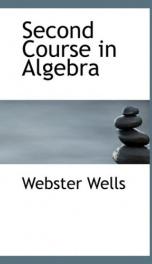 second course in algebra_cover
