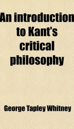 an introduction to kants critical philosophy_cover