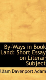 by ways in book land short essays on literary subjects_cover