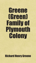 greene green family of plymouth colony_cover